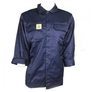Quality Navy Blue Unisex Supervisor Manger 220g ESD Smock for sale