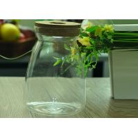 Quality Borosilicate Glass Storage Jar With Cork or Wooden Lid at Different Sizes for sale