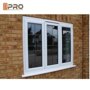 Quality White Powder Coating Glass Aluminum Sash Windows Energy Efficient for sale