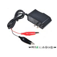 Quality Alligator Clips Battery Charger With LED When Charging Red Charged Green for sale