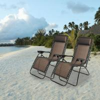 Quality Outdoor folding lounger chairs Portable beach sun lounger chair folding beach sun lounger recliner zero gravity chair for sale