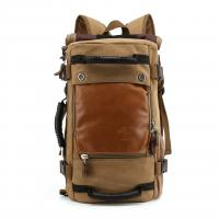 Buy Black Teenagers Canvas 40l Travel Backpack Vintage Style , Waterproof Travel Bag at wholesale prices