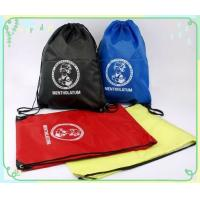 Quality backsack drawstring bags, made of polyester fabric for sale