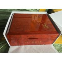 Buy cheap Square Solid Piano Coating Red Wooden Jewelry Box For Gift Case With Jewelry from wholesalers
