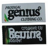 China Brand Logo Personalised Woven Labels Embroidered Clothing Labels Eco Friendly on sale