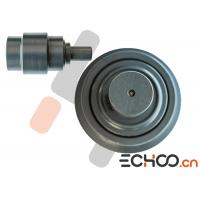 Quality Double Flanges Heavy Excavator Track Rollers / Caterpillar Track Rollers Black for sale