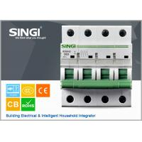 Quality 230V single phase 4P Miniature Circuit Breakers for protection overload and short circuit for sale