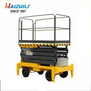Hydraulic Mobile Scissor Lift Platform 300kg 3m Mini Size Stable Performance