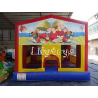 Quality residential red yellow color indoor inflatable bouncers for kids for sale