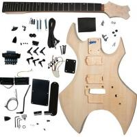 Quality Polished Basswood DIY Solid Electric Guitar Kits With Double Locking System AG-WU1 for sale