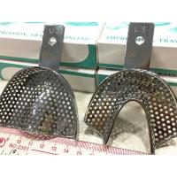 China Silver Color Metal Dental Trays , Dental Impression Material Long Lasting on sale