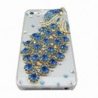 Quality PC Case for iPhone 5 with Diamonds, Fashionable Design for sale