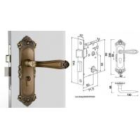 Buy High Hardness Room Mortise Door Lock Antique Bronze Zinc Alloy Entracne Handle Lock at wholesale prices