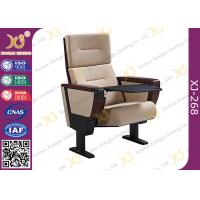 Quality Soild Molded Bent Plywood Back Church Auditorium Chairs With ABS Tablet for sale