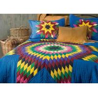 Quality Geometric Design Handmade Bedding Sets , 100% Cotton Colorful Bedding Sets for sale