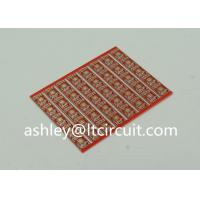 Quality Gold Plated Red Double Sided PCB Semi Holes Side Rails White Lenged for sale