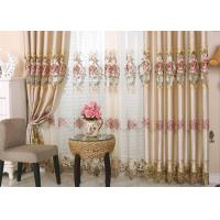 Quality Beautiful Polyester Embroidered Fabrics Contemporary Curtain Fabric for sale