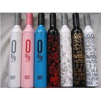 Quality Promotional Reverse Folding Umbrella Wine Bottle Shape 180T Polyester Pongee Fabric for sale