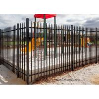 Quality Safely Metal Modern Zinc Steel Fence Tubular Picket Fence For Downtown for sale
