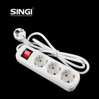 Buy White 3 adaptor multi outlet power bar PC + ABS / Tin phosphor bronze Material at wholesale prices