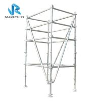 Quality 2m - 20m Aluminium Scaffold Tower , Mobile Climbing Ladder Frame Scaffolding for sale