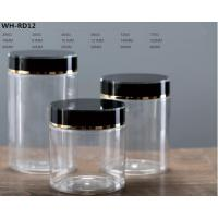 Buy 290g 380g 460g 560g 730g 770g plastic PET food bottle with black cap at wholesale prices