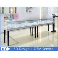 Quality Simple Wood Glass Jewelry Display Cases With Lock For Retail Store for sale