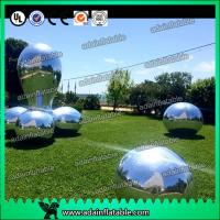 Quality Silver Fabric Inflatable Mirror Ball Fire - Retardant For Fashion Show Decoration for sale