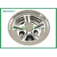 Quality 8 Inch Golf Cart Wheel Covers SS 5 Spoke Hub Caps For Steel Wheels 330g for sale