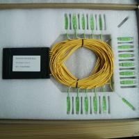 Quality Ftth Plastic ABS Black Box PLC Splitter 1x32 With SC Upc Connnector / 32 Way Splitters for sale