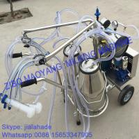 Buy cheap High Quality, Vacuum Pump Typed Double Buckets Mobile Milking Machine,good price portable milking machine for farms from wholesalers