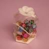 Buy cheap petal top hexagonal clear plastic box folding up glue packaging box customized from wholesalers