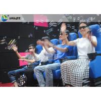 Quality Smooth Seat Action 4d Cinema Theater With Vibration / Movement / Push Back for sale
