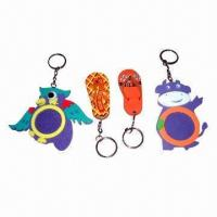Quality Promotional Keychain, Acrylic/Plastic Materials, Customized Shapes and Sizes and OEM Accepted for sale