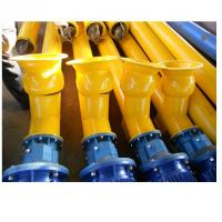 China Cement plant used carbon steel vertical 219mm screw conveyor for concrete mixing on sale