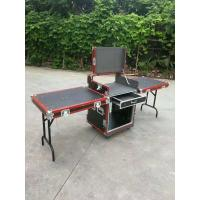 Quality Red Aluminum Egde 12U Standard Road Rack Flight Case 35 * 35MM With 2 Stand And Mixter for sale