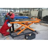 China 220v 0.75kw 2715*760*120 Mm Motorcycle Scissor Lift Table 900KGS on sale