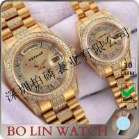 Quality Japan Movement Automatic 18K Solid Gold Watches For Couple Water Resistant for sale