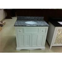 "Buy cheap 37"" Wood Bathroom Vanity Cabinet Polished Finish With Grey Granite Tops from wholesalers"