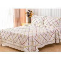 Quality Geometric Full Size Quilt 3pcs Country Style Handmade Patchwork Quilt Bedding Sets for sale