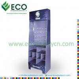 China Retail Floor Display, Cardboard Hook Display, Supermarket Shelf Floor Display on sale