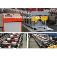 China Auto Cutting Pressing Roofing Ridge Cap Forming Machine YX312 BV / SGS on sale