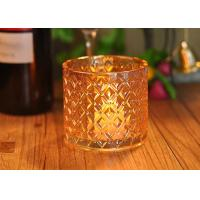 Quality Recycled Decorative Glassware Candle Jar Shiny Liquid Luster Finish for sale