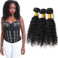 China Double Weft Brazilian Water Wave Hair Extensions 3 Bundles No Shedding on sale