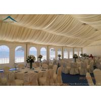 Quality Luxury Lining Decoration Large Event Tents With Aluminium Frame , Custom Canopy Tents for sale