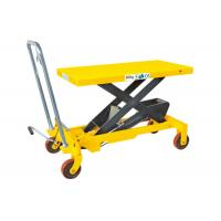 China Heavy Weight Manual Lift Table , Materials Handling Small Hydraulic Lift Table on sale
