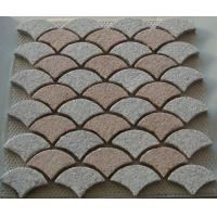 Quality Interlocking Pink and White Granite Paving Stone, Fanshaped Granite Pavers for sale
