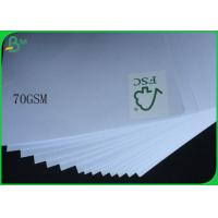 Quality FSC Uncoated And Virgin Pulp Style High White 70gsm White Wood Free Paper for sale