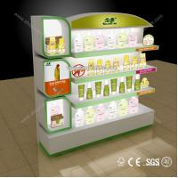 Quality New style cosmetic MDF retail product display stands for sale