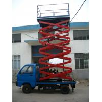 Quality Stable Hydraulic Elevating Platform , Steel Material Truck Mounted Scissor Lift for sale